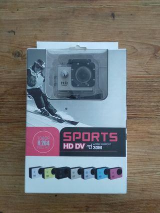 cámara deportiva. 1080 full HD
