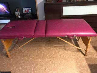 Camilla de masajes con cojín