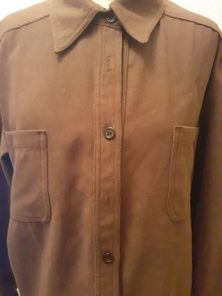 camisa mujer antelina marron