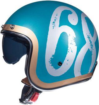 Casco moto jet MT hipster bronce