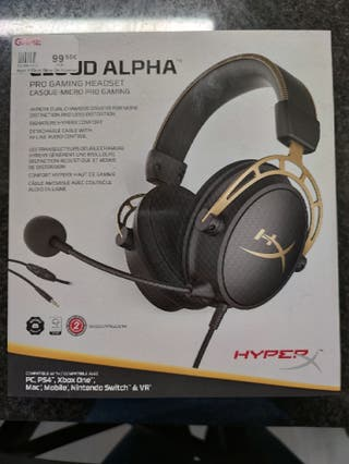 Auriculares Hiperx Cloud Alpha gold edition