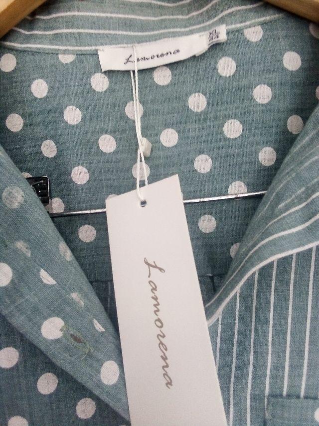 Camisa algodón mujer NUEVA Talla 44 ó XXL