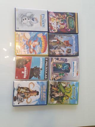 8 películas DVD niños