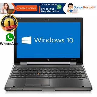 Portátil Hp EliteBook 8560W, i7 4 Núcleos/8Gb Ram/