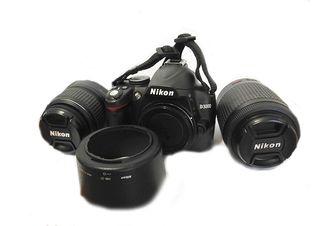 camara reflex digital Nikon D3000 + 2 objetivos