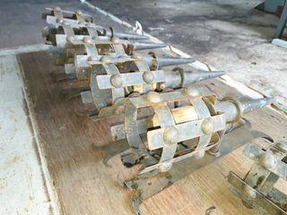 6 apliques de forja antorcha medieval