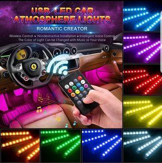 Envio Gratis-Luces Led Multicolor Interior Coche