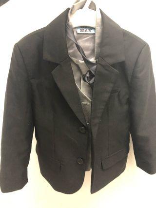 Chaleco + corbata + chaqueta de arreglar