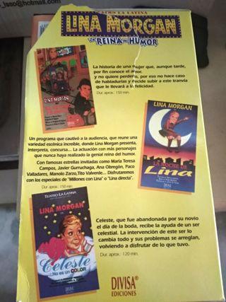 LOTE DE 5 CINTAS VHS DE LINA MORGAN