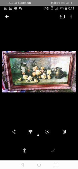 cuadro bodego en olio lienzo un metro