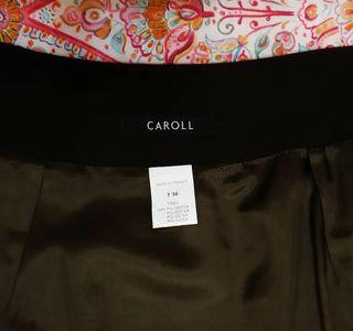 Falda midi marrón chocolate de Caroll