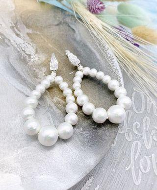 Pendientes de perla para novia invitada a boda