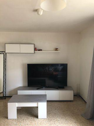 Conjunto de salón:mueble+mesita de centro elevable