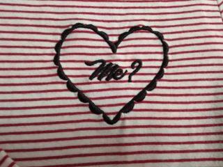 camiseta marinera roja y corazón M/L