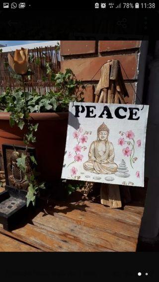 Cuadro Buda hecho a mano