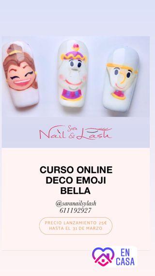 Curso uñas online deco emoji Bella