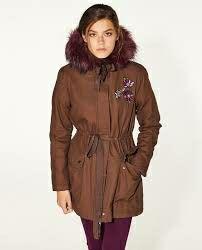 Abrigo parka marrón de Sfera