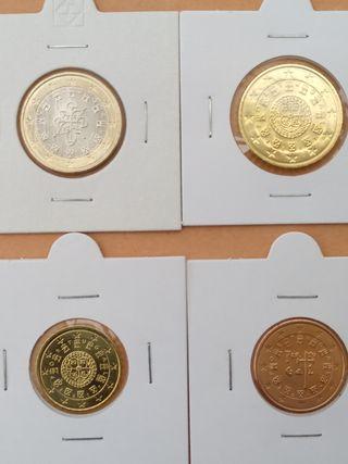 1€, 50, 20 y 5 CTS. Portugal, 2017. Nuevas, SC.