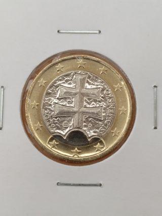 Moneda, 1€ Eslovaquia 2009, SIN CIRCULAR, nueva.
