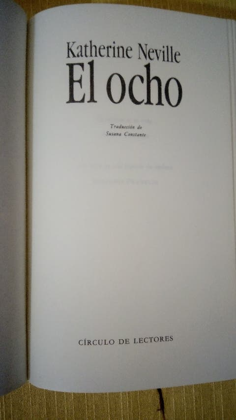 LIBRO EL OCHO ( KATHERINE NEVILLE)