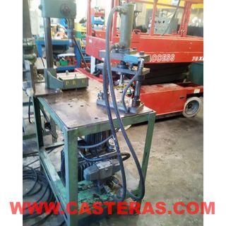 Banco de trabajo - mesa con prensa hidraulica