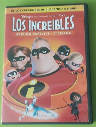 PELICULA PIXAR LOS INCREIBLES 2 DVD'S