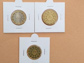 1€, 50, y 20 cts Portugal 2016, NUEVAS, SC.