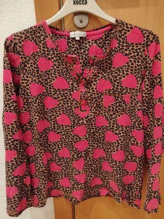pijama leopardo y corazones