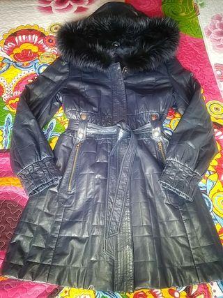 Abrigo corto napa azul