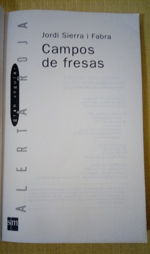 NOVELA REALISTA CAMPOS DE FRESAS 32 EDICIÓN