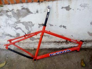 Cuadro bicicleta descenso Kona