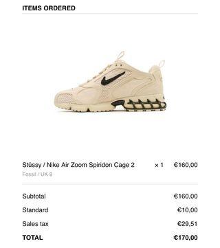 Nike x Stüssy Air Zoom Spiridon Cage 2