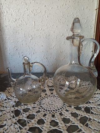 juego aceitera y jarra antigua