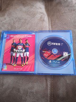 Juego Fifa19 para PS4