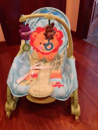 Hamaca bebé con vibración y balancín . Fisher Pric