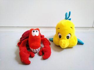 Sebastián y Flounder / Peluches Disney