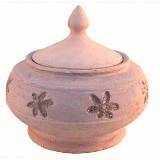 Bombonera malva de cerámica r4097