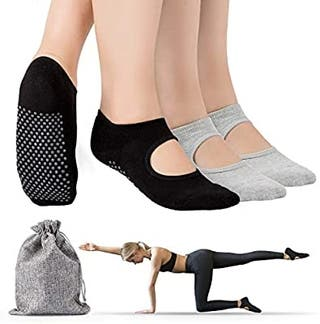 Tusscle Calcetines Yoga, 2Pcs Y 4Pcs Pilates Calce