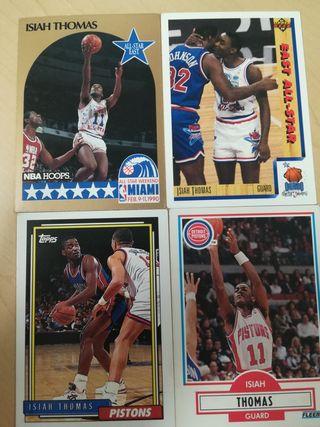 Cromos-Card Isiah Thomas Pistons NBA