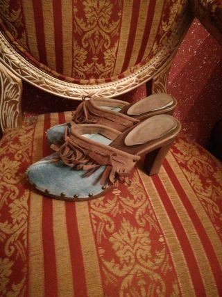 zuecos N38 vaqueros sandalias zapatos calzado