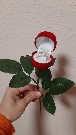 Caja anillo rosa NUEVA