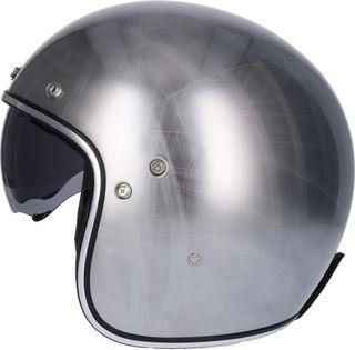 Casco moto jet shiro 235 cromo