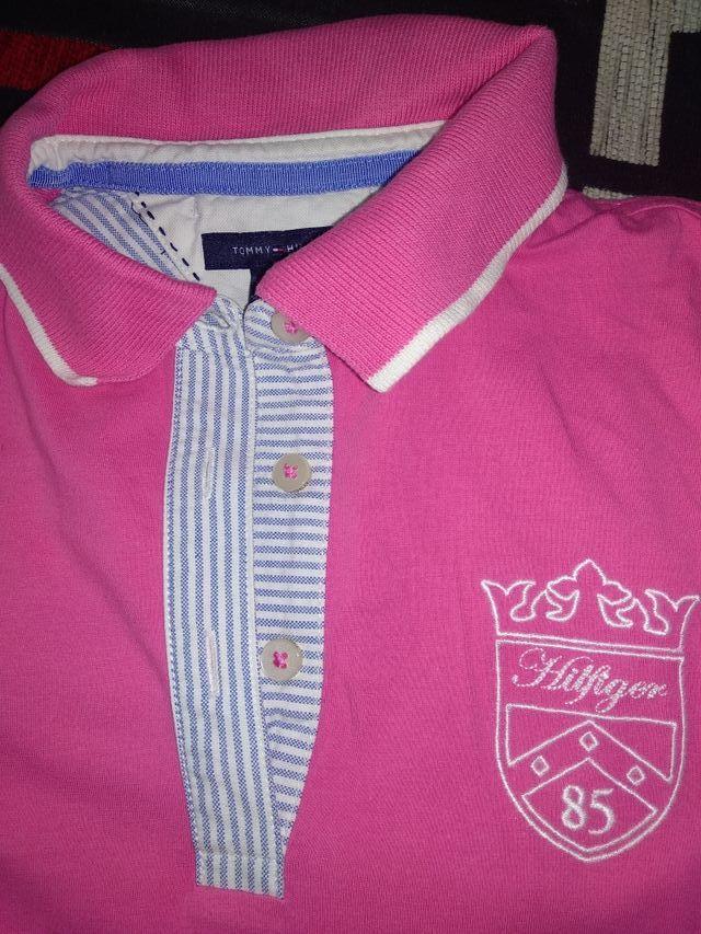 Polo mujer manga corta rosa de Tommy