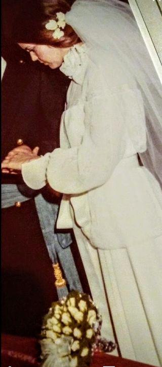 vestido de novia vintage.1978.
