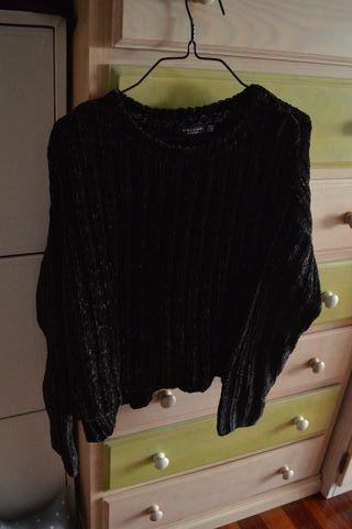 Jersey negro chenilla