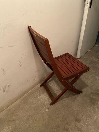 2 sillas plegables de terraza exterior