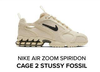 nike air zoom spiridon cage 2 x Stussy 8.5 us