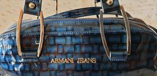 Bolso Armani Jeans azul charol