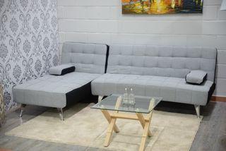 Sofá-cama chaise-longue reversible tapizado *240cm