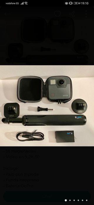 360 GO PRO FUSIÓN + go pro 5 con dos baterias